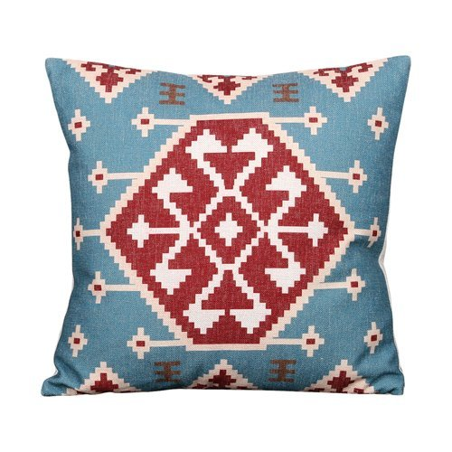 MeMoreCool Middle East Kilim Ait Les Ethnic Handmade Cotton Linen Pillow Sham,Bohemian Exotic Retro Geometric Throw Pillow Cover,Home Decor Pillowcase 18