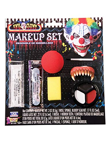 Forum Novelties Evil Clown Make Up Kit,