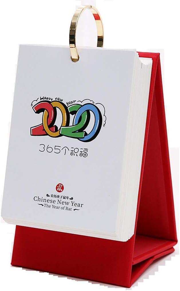 Calendario Escritorio Calendario 2020 del escritorio del calendario creativo simple trabajo de notas de negocios Cara del estilo chino de rasgado manual individual calendario diario Plan En esta tarje