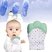 Babylian Teething Mitten, Infant Teether for Massage Sore Teething Gums,Teething Toys for 3-12 Months Baby, Best Toddler Toys for Teething Babies. ( Twins in Pack)