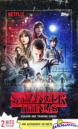 (2018 Topps Stranger Things MASSIVE Factory Sealed 24 Pack HOBBY Box with 168 Cards & TWO(2) HITS of either Autograph, Costume Relics, Sketch Cards or Commemorative Relics! WOWZZER!)