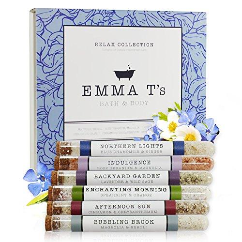 Emma T's Relax Bath Salts Gift Set - Fizzy Bath Salts - 6 Baths (Kit Indulgence)
