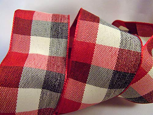 (Holiday Plaid Ribbon - 1.5