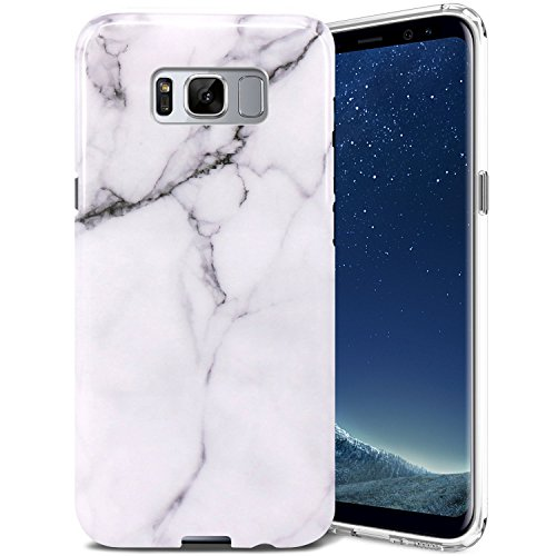 Galaxy S8 Plus Case, ZUSLAB Pattern Design, Slim Shockproof Flexible TPU, Soft Rubber Silicone Skin Cover for Samsung Galaxy S8 Plus (Marble White)