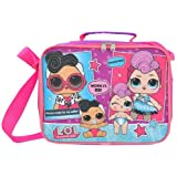 LOL Surprise! Glam Club Soft Insulated Pink Lunchbox Lunch bag -Doll Face &Miss Punk