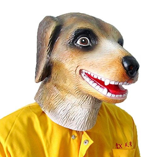 [The Twelve Zodiac Animal Mask - Halloween--Dog] (Latex Wolf Suit)