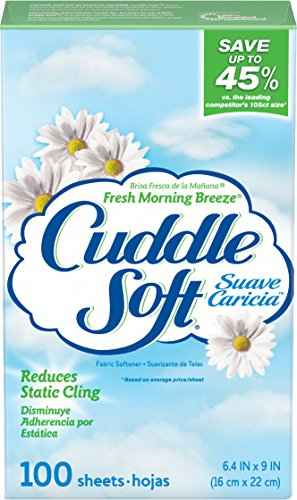 Sun Cuddle Soft Fabric Softener Dryer Sheets, Fresh Morning Breeze, 100 Count