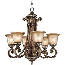 Dolan Designs 2400-162 Carlyle 6 Light Chandelier, Verona