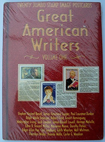 (Great American Writers, Vol. 1, Jumbo Stamp Image Postcards, 20 Cards)