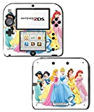 Princess Friends Pink Cinderella Snow White Ariel Jasmine Belle Sleeping Beauty Video Game Vinyl Decal Skin Sticker Cover for Nintendo 2DS System Console