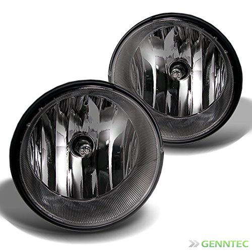 Smoke Fog Light Kit (2005-2011 Tacoma, 2007-2013 Tundra Smoke Fog Lights w/ Wiring Kit & Switch New 2006 2007 2008 2009 2010 Pair Left+Right)