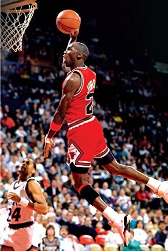 Michael Jordan Famous Foul Line Dunk Sports Poster Print 20x13 Inches