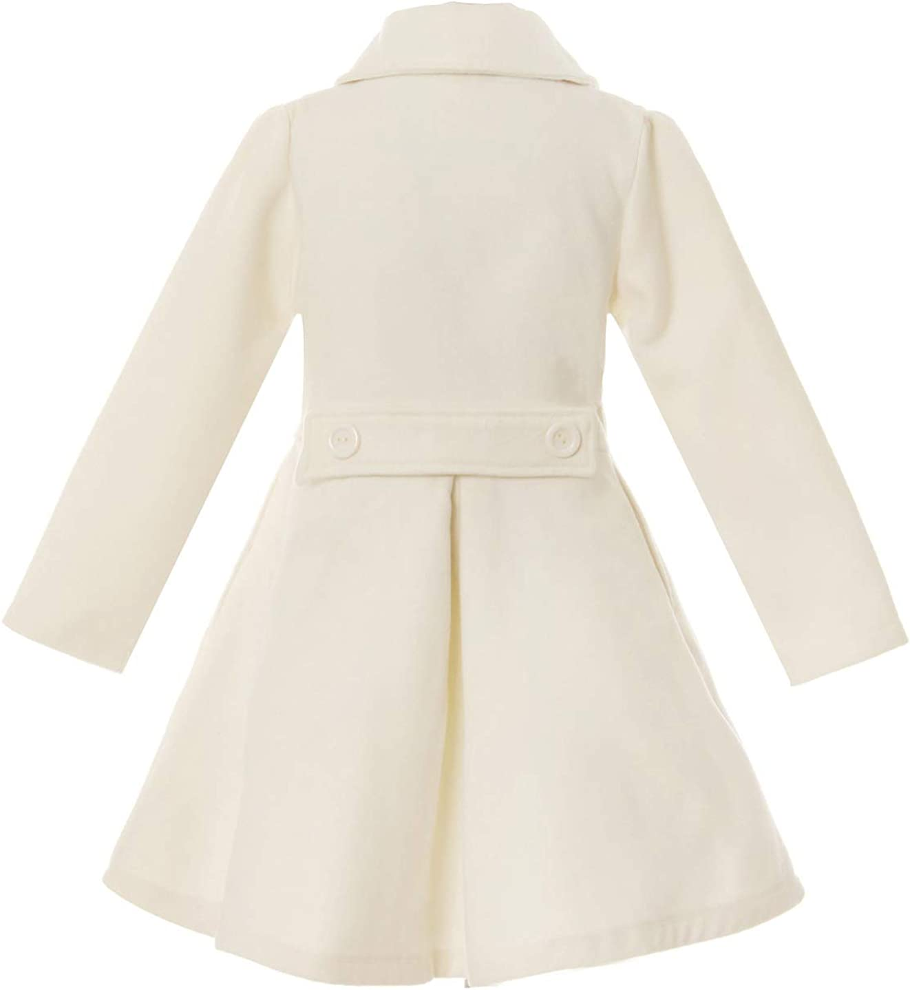 iGirlDress Coat Long Sleeve Button Pocket Long Winter Coat Outerwear