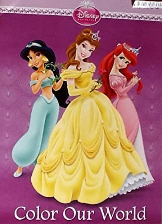 Disney Princess Coloring Book 32 Pages Tear Share Belle Ariel