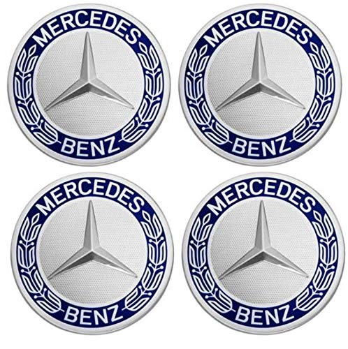 75 mm 4 Unidades Desconocido Generic Tapacubos de Repuesto para Mercedes Benz