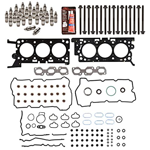 Evergreen HSHBLF8-20737 Lifter Replacement Kit fits 06-09 Ford Lincoln Mercury 3.0 DOHC 24V VIN 1 Head Gasket Set, Head Bolts, - Dohc 24v Head Gasket