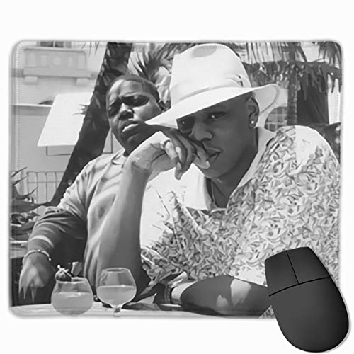 Qiznzaza Jay-Z & Biggie- Brooklyn's Finest Gaming Mouse Pad Classic Computer Mousepad Non-Slip Rubber Mouse Mat for Home Office