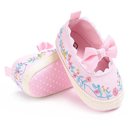 Pueri Zapatos del bebé Zapatos de las niñas de la primavera y el verano Para los primeros pasos Zapaticos agradables Rosado