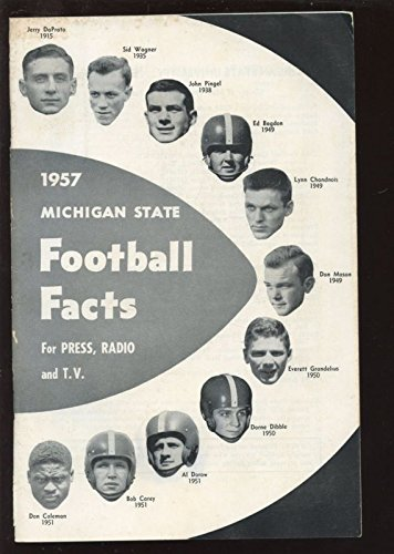 1957-NCAA-Football-Michigan-State-Spartan-Press-Radio-TV-Media-Guide-EX
