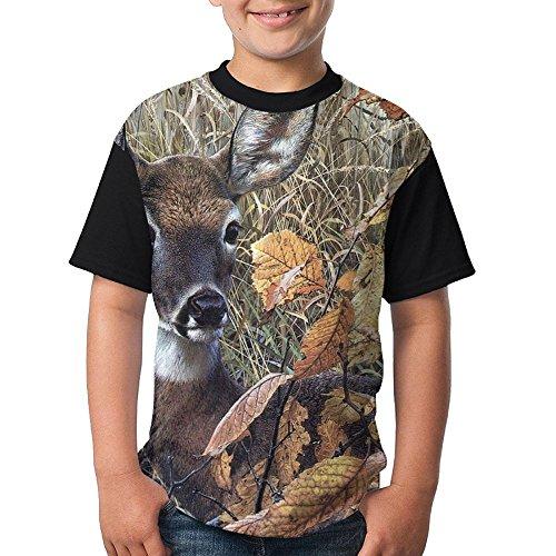 ENGJDHEH Teenager T Shirt Cut Deer Teen Short