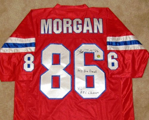 Stanley Morgan Signed Jersey - New England Patriots Leader In Sports