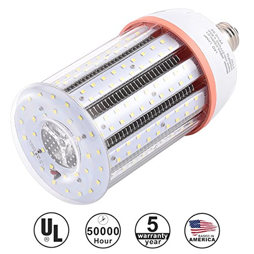 KAWELL 50W Daylight LED Corn Light Bulbs, Large Mogul E39 Base, 7500 Lumens, 6500K Cool White, Replacement for 250W to 300W Equivalent Metal Halide Bulb, HID, CFL, HPS, UL Listed DLC Certified 50w Cfl