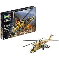 Revell- Mil Mi-24D Hind Maqueta Helicóptero,10+ Años, Multicolor