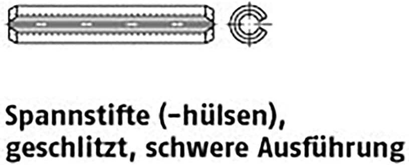 Spannstifte ISO 8752 Federstahl 4 x 20 VE=K 200 St/ück
