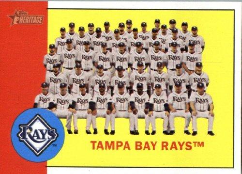 (2012 Topps Heritage Baseball Card #312 Tampa Bay Rays TC - Tampa Bay Rays (Team Photo Card))