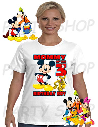 MICKEY MOUSE Birthday Shirt Mickey Mouse PartyADD Any Name And Age FAMILY