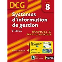 Systèmes d'information de gestion épreuve 8 DCG Manuel et Applications (French Edition)