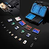 Memory Card Reader, PULUZ USB 3.0 SD CF TF Reader with OTG Fuction & 21 Slots Waterproof SD CF TF SIM Cards Case Holder for Tablet, Computer, Notebook & Android Smartphones