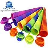 Joyoldelf Popsicle Moulds - Party Pack of 6 Silicone Ice Pop Maker Mold Set for Popsicles or Reusable Lunch Snack Bags, 2 in 1, Clearance