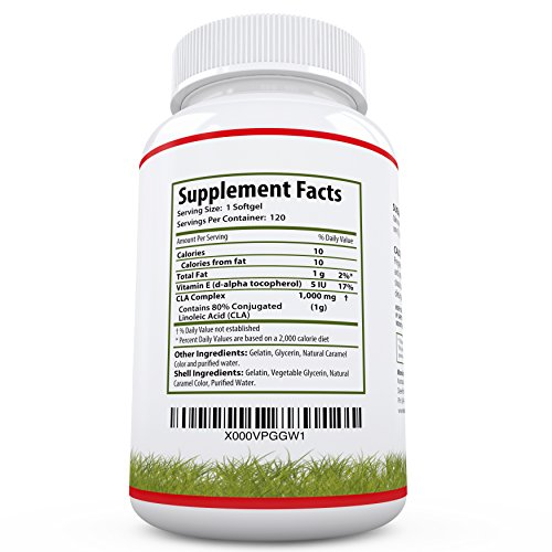 BEST CLA Supplement For Weight Loss - #1 Conjugated Linoleic Acid Diet Pills For Women And Men - CLA Safflower Supplement - CLA Safflower Oil - 120 Rapid Release 1000mg CLA Softgels - 100% Guaranteed!