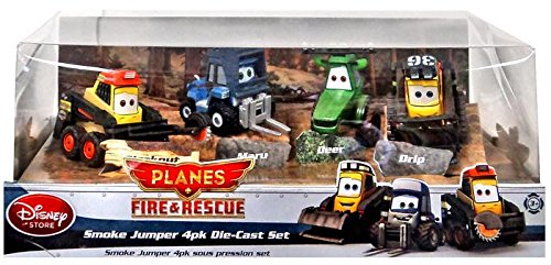 Disney PLANES: Fire & Rescue Exclusive 1:55 Deluxe Die Cast 4-Pack Smoke Jumper [Blackout, Maru, Deer & Drip] (Smoke Jumper Die Cast compare prices)