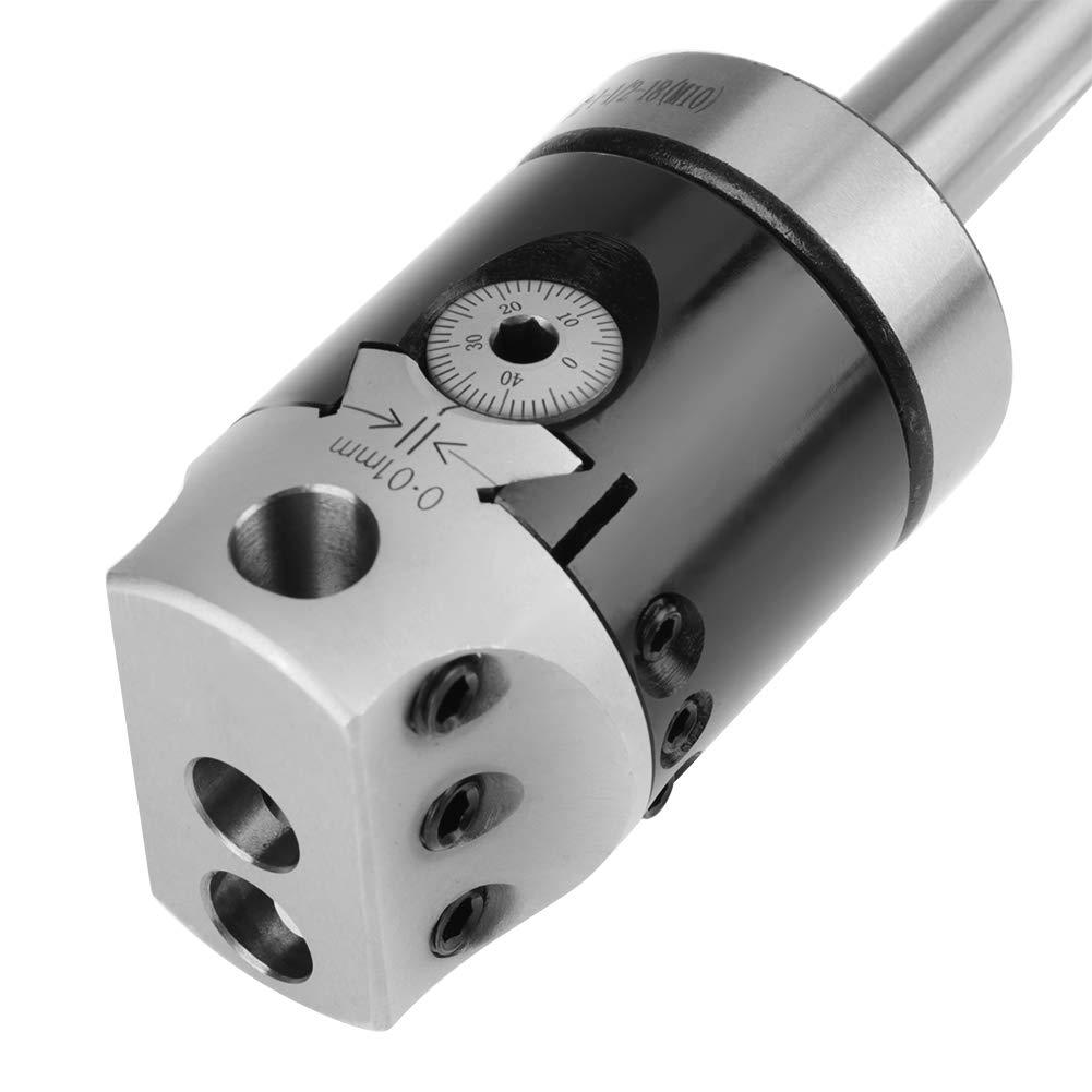 con barre di alesatura 9pcs 12mm Accessori per fresatrici Boring Head Set di teste di alesaggio alesature in metallo duro MT2 -M10 F1-12 testa di alesatura 50mm Boring Tool set