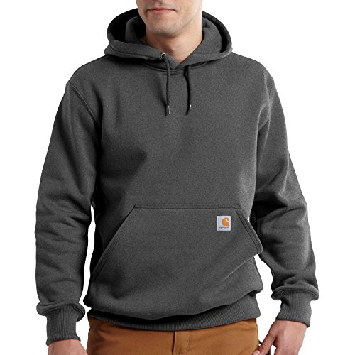 Jersey Ribbed Sweatshirt (Carhartt Men's Rain Defender Paxton Heavyweight Hooded Sweatshirt,Carbon Heather,XX-Large)