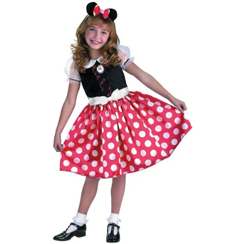 Disney Mickey Mouse Minnie Mouse Classic Girls Costume, Small/4-6x (Girl Mickey Mouse Costume)