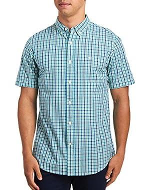 Men's Short Sleeve Beached Poplin Shirt