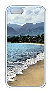iPhone 5S TPU White Color Soft iPhone Case Latest style Case Suit 4.0 Inch Very Nice And Ultra-thin Case Easy To Operate Background Sea