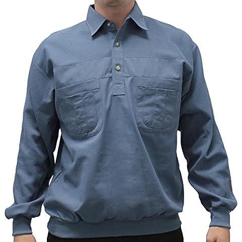 LD Sport 4 Pocket Long Sleeve Banded Bottom Shirt - 6097-200 (MEDIUM, CADET LB)