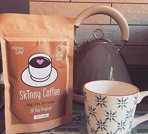 The Skinny Caffe Salted Caramel Coffee 30 Days Instant