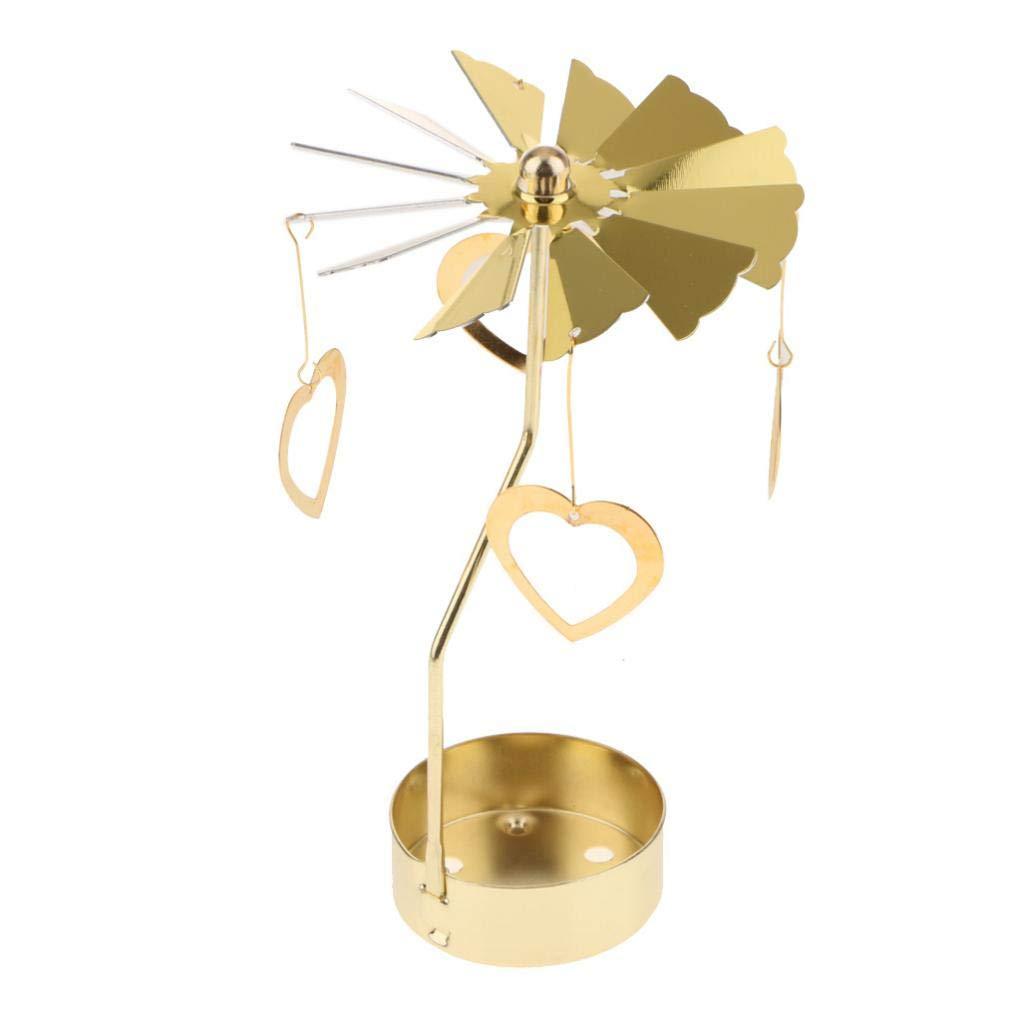 B Blesiya Glitter Gold Plated Windmill Tea Light Candle Holder Wedding Decor Ornament: Snowflakes, elf, Star, Heart, Xmas Tree, Deer - Butterfly