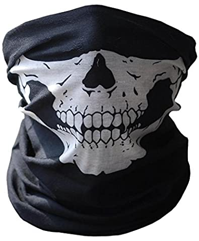 1 Piece Halloween Cosplay Bicycle Ski Skull Mask Half Face Mask Ghost Scarf Neck Warmer