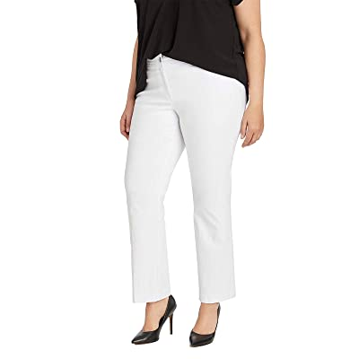 89th + Madison Plus Size Five Pocket Millennium Stretch Ankle Pants (22, Bleached White) at Women's Clothing store