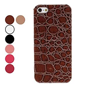 Alligator Grain Hard Case for iPhone 5/5S (Assorted Colors) --- COLOR:Khaki