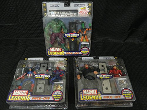 Marvel Legends Face-Off Set of 3 Variant Figures, The Hulk Vs The Leader, Kingpin Vs DareDevil and Captain America Vs Red Skull