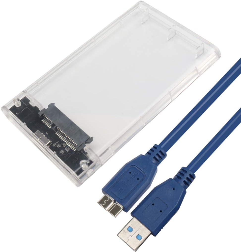 Transparent 2,5 Pouces SATA HDD 2.5 inch,USB3.0 to Case 3.0 vers USB 3.0 Disque Dur Externe SSD du bo/îtier Box