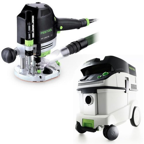 Cheap Festool OF 1400 EQ Router with T-Loc + CT 36 Dust Extractor Package