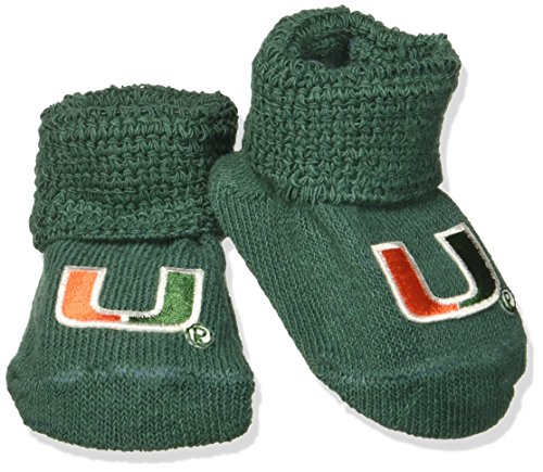 - Two Feet Ahead NCAA Miami Hurricanes Infant Gift Box Booties, One Size, Green